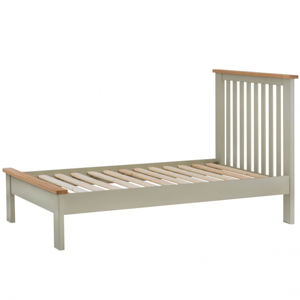 Cotswold 3` Low End Bed - Stone