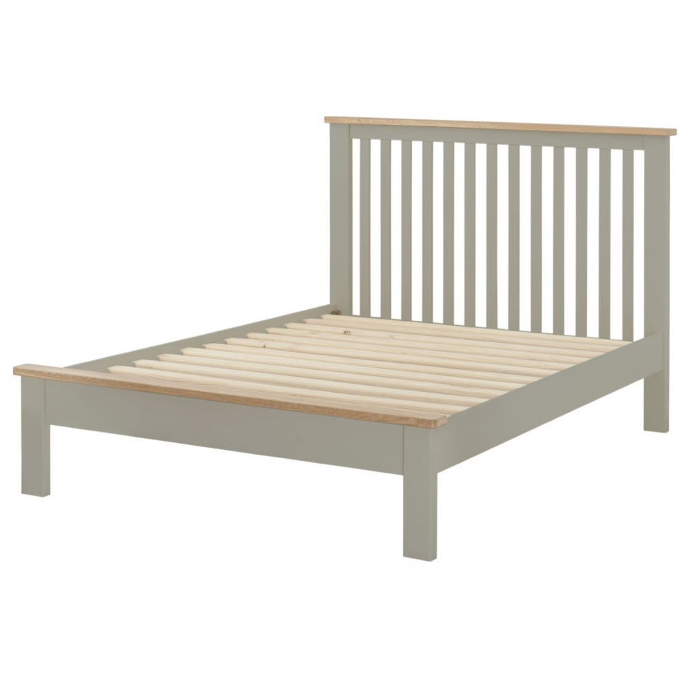 Cotswold 5` Low End Bed - Stone