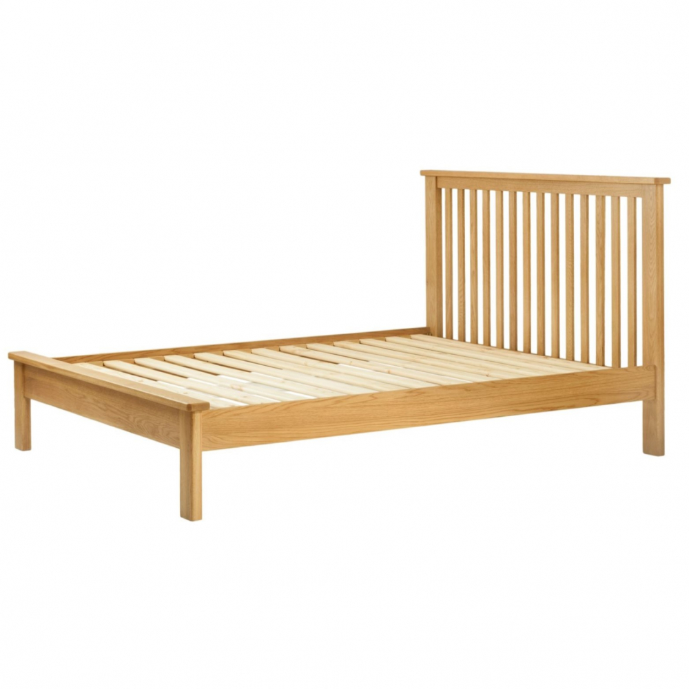 Cotswold 5` Low End Bed - Oak