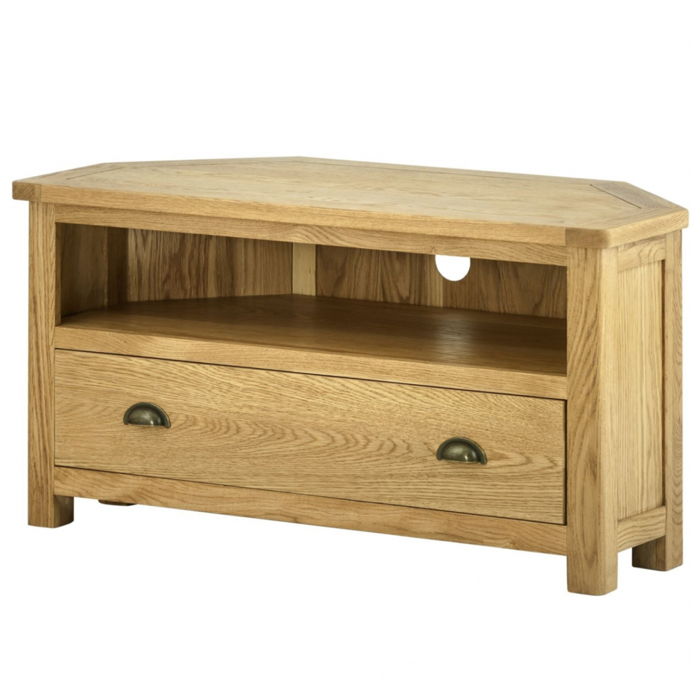 Cotswold Corner TV Unit - Oak