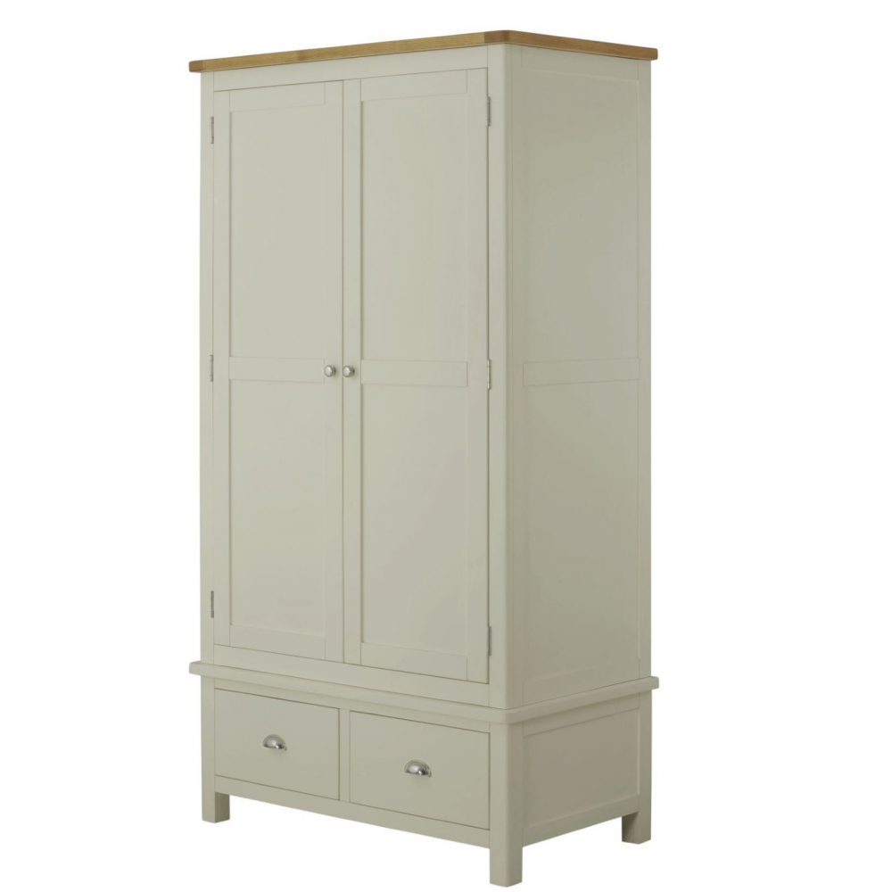 Cotswold Gents Wardrobe - Stone