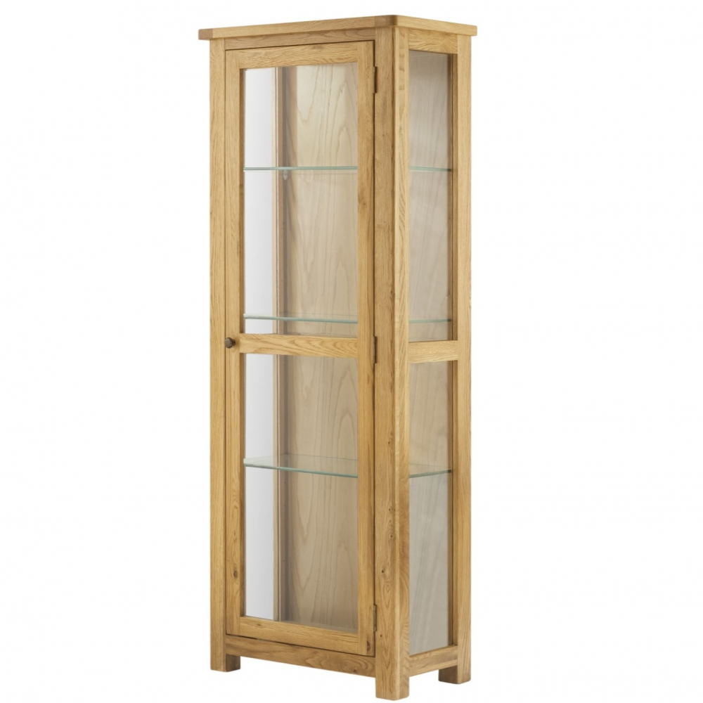 Cotswold Glazed Display Cabinet - Oak