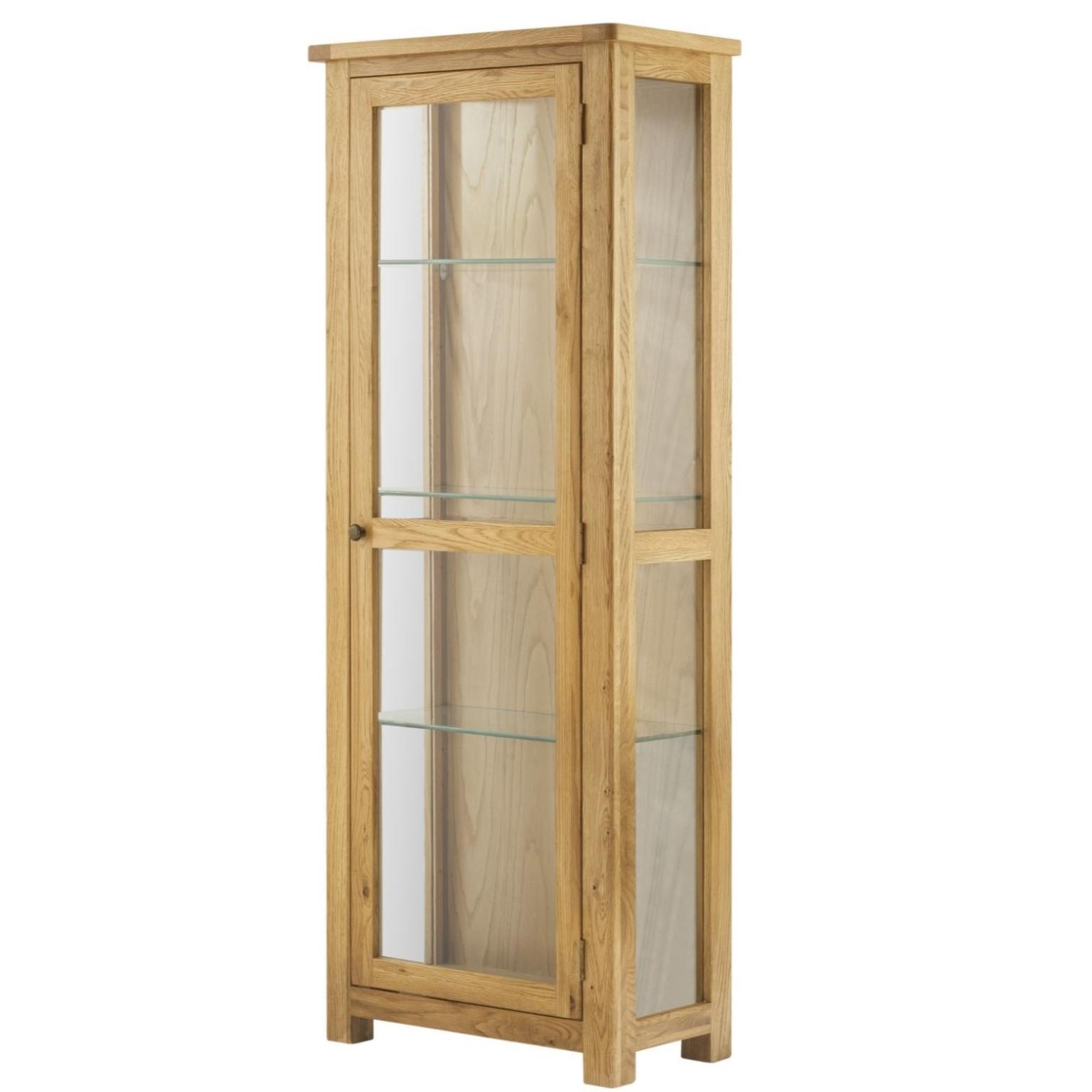 Cotswold Glazed Display Cabinet - Oak