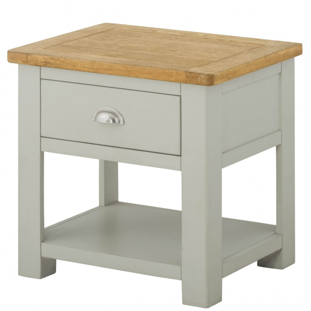 Cotswold Lamp Table with drawer - Stone