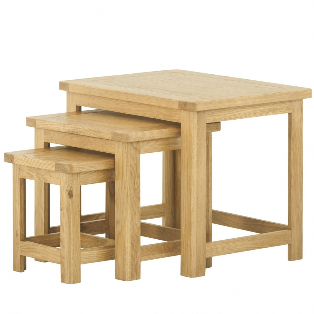 Cotswold Nest of Tables - Oak