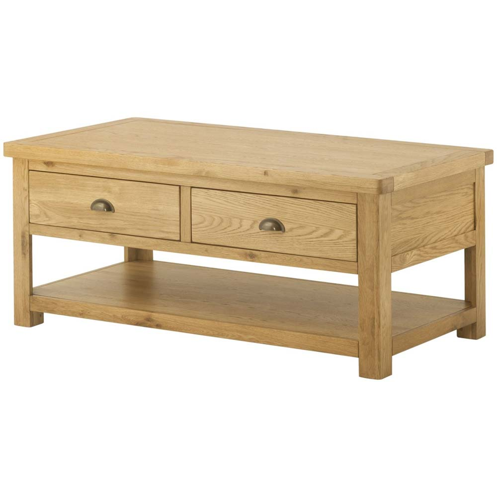 Cotswold Grand Coffee Table with Drawers - Oak