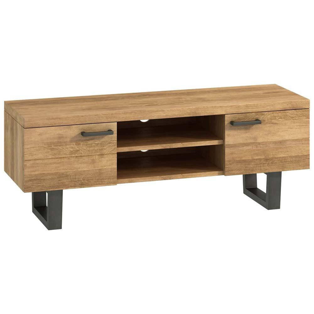 Fushion wood and metal TV unit