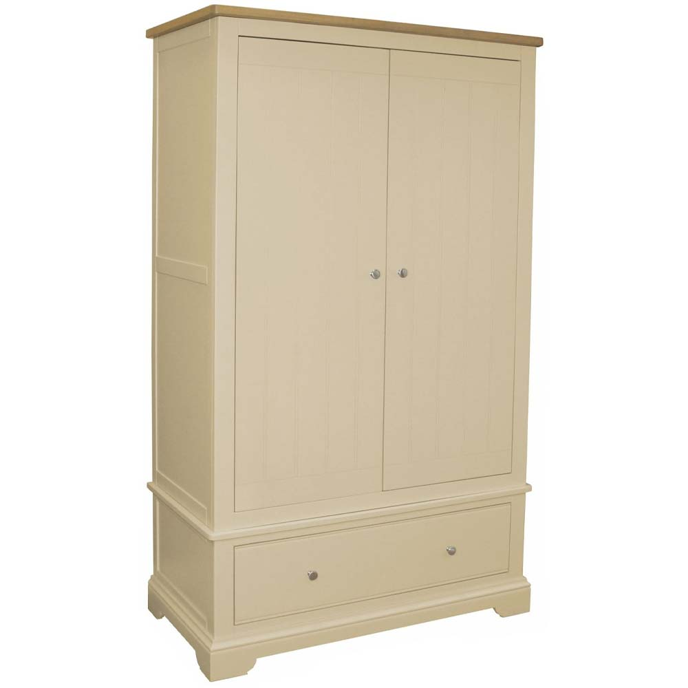 Cream painted oak wardrobe