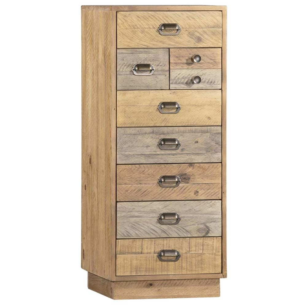 Relcaimed pine rustic chest of drawers (tall)