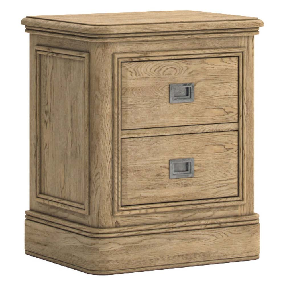 Antique style oak bedside cabinet