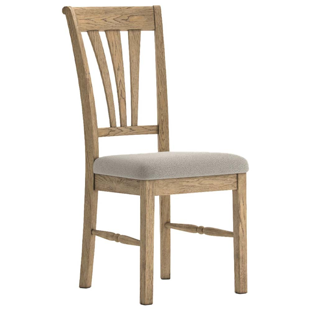 Antique style oak upholstered dining chair