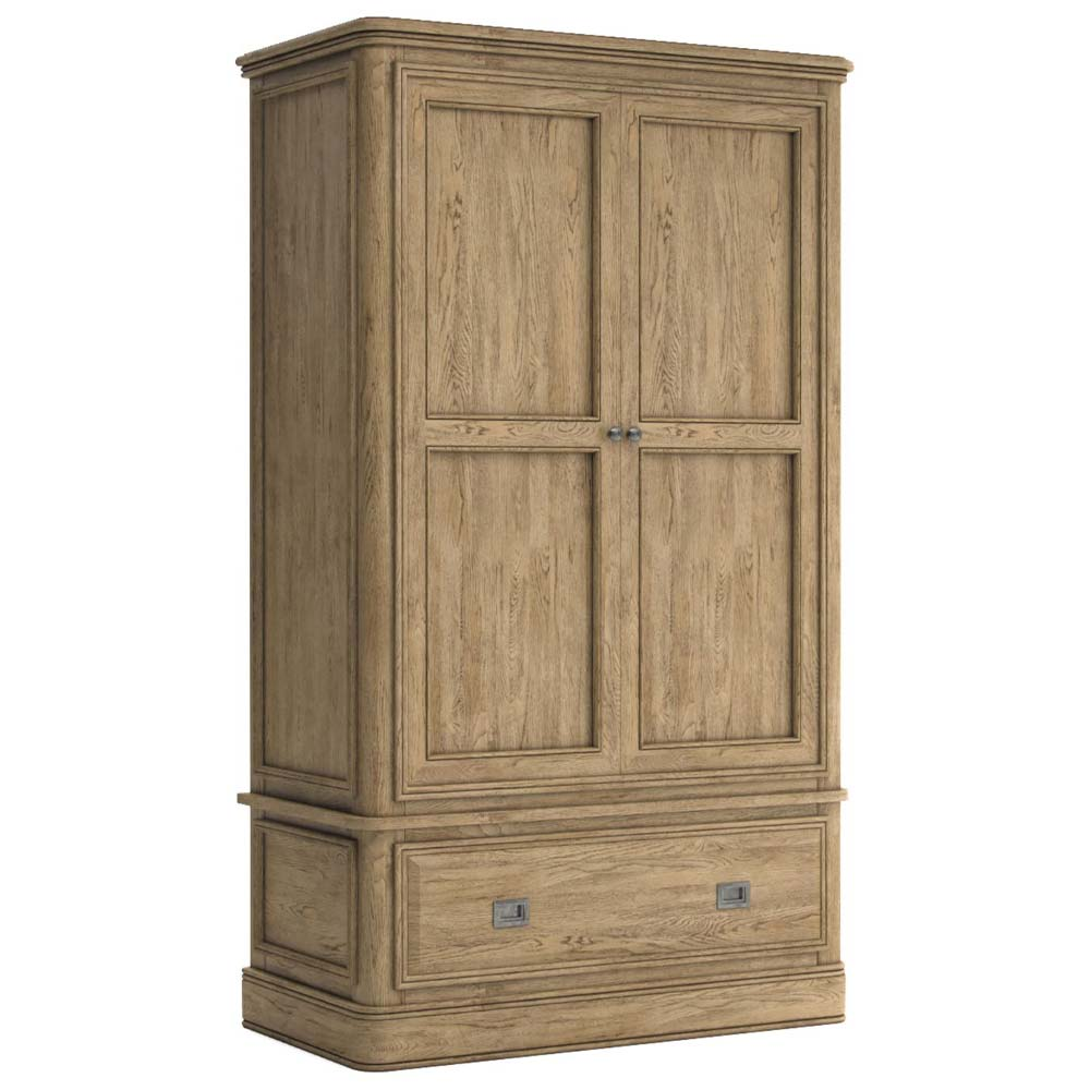 Antique style wardrobe with drawer