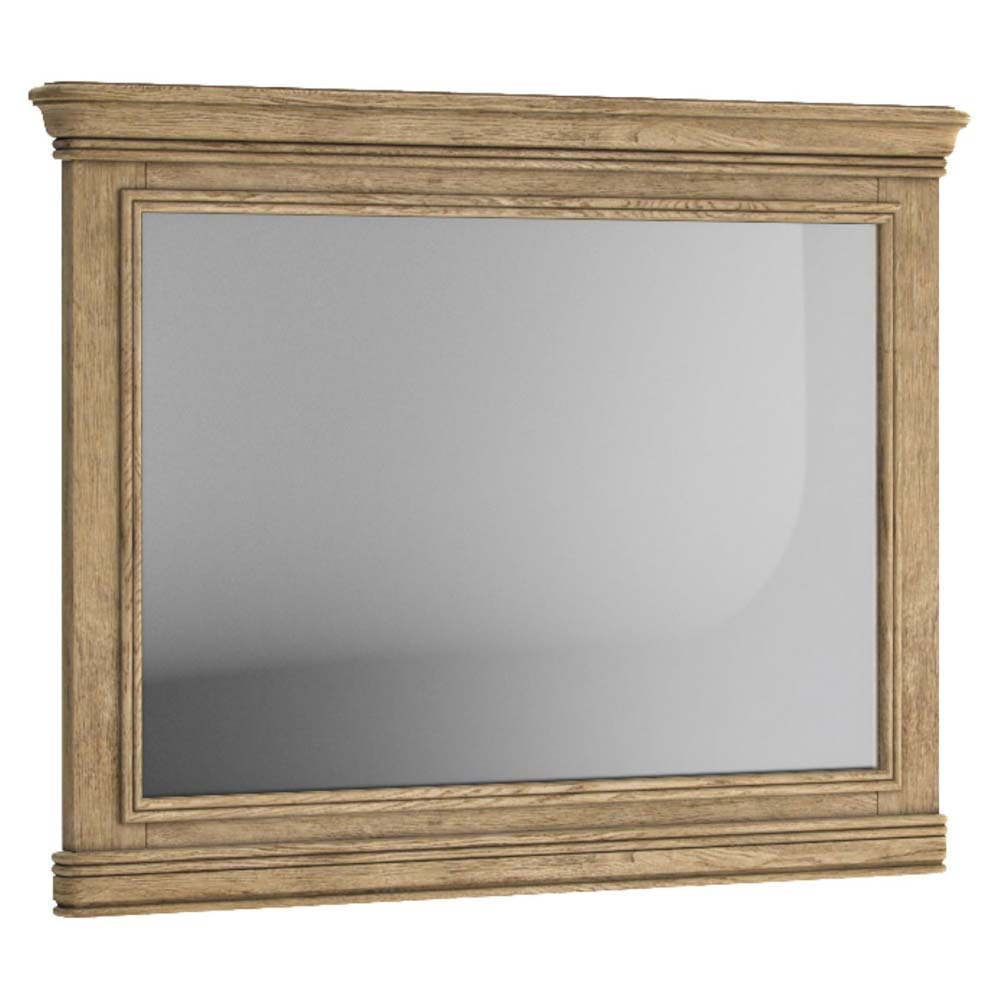 Antique style oak wall mirror