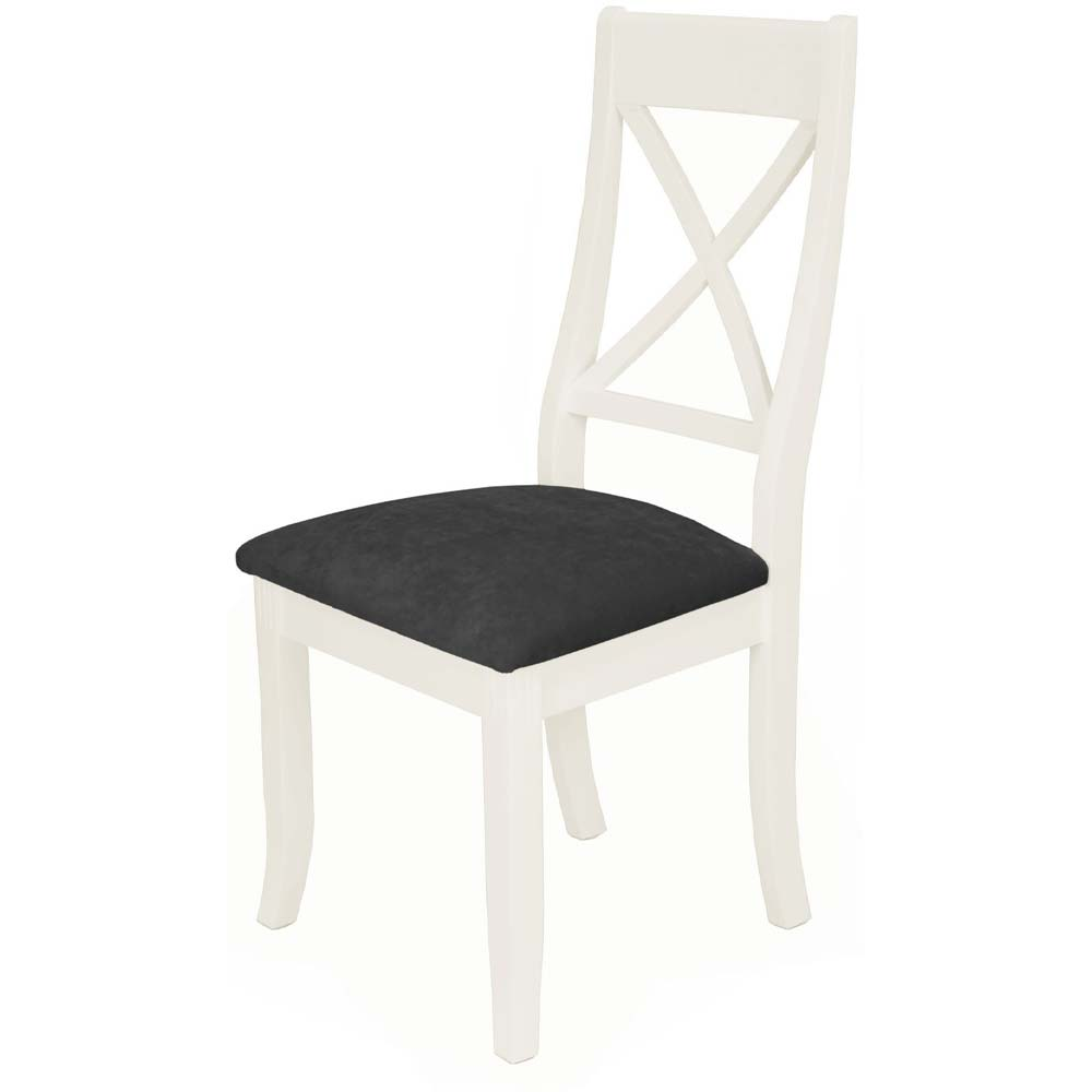 X-back painted white oak dining chair