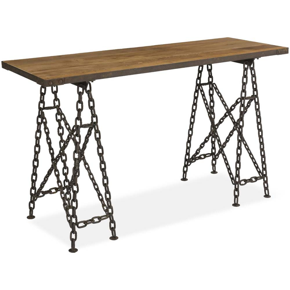 Boston bar table with chain legs
