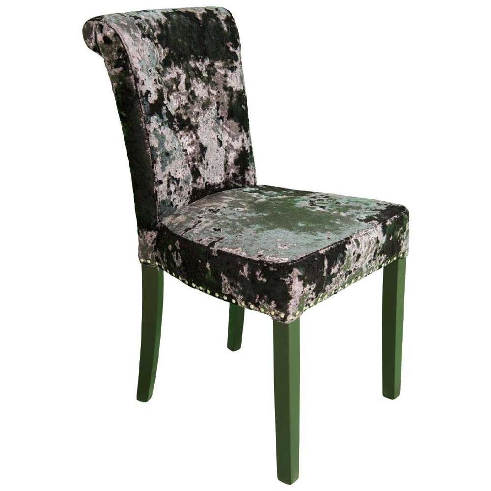 Coletta Dining Chair with green legs