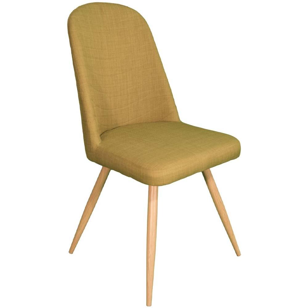retro yellow dining chair