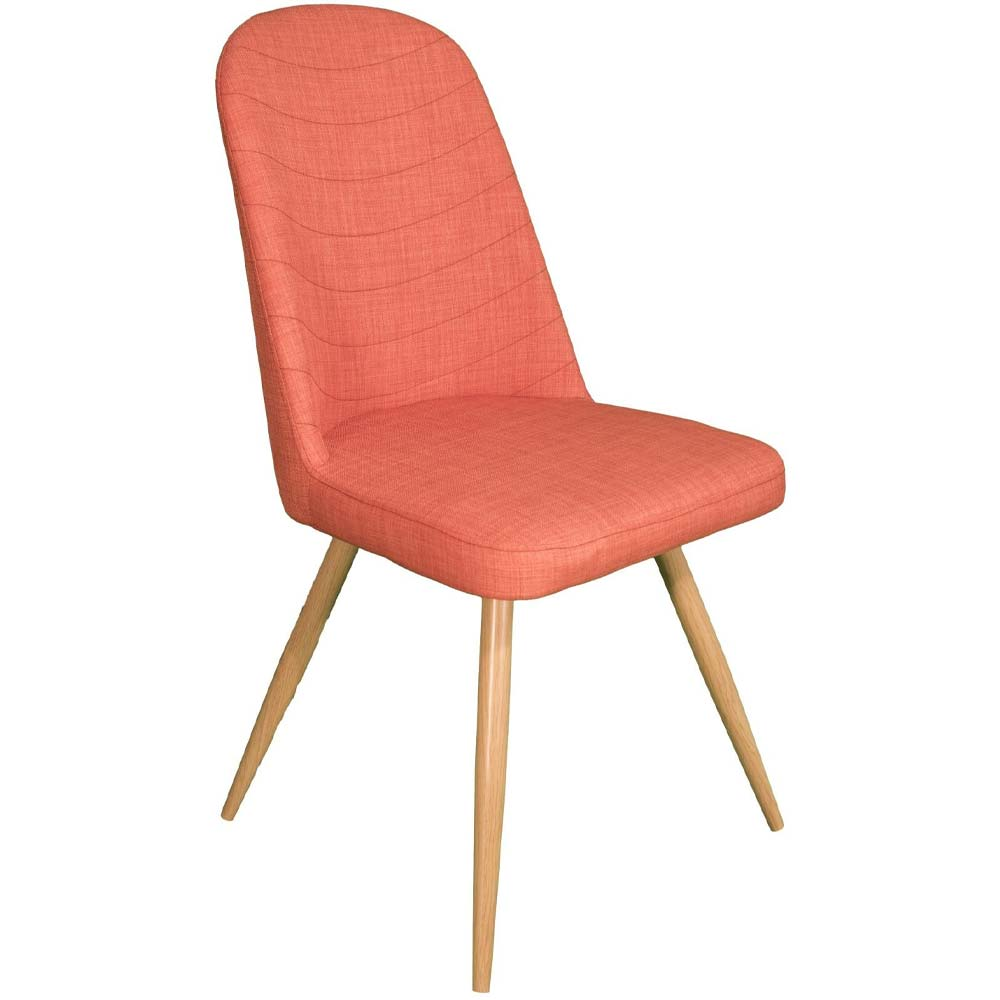 salmon pink dining chair