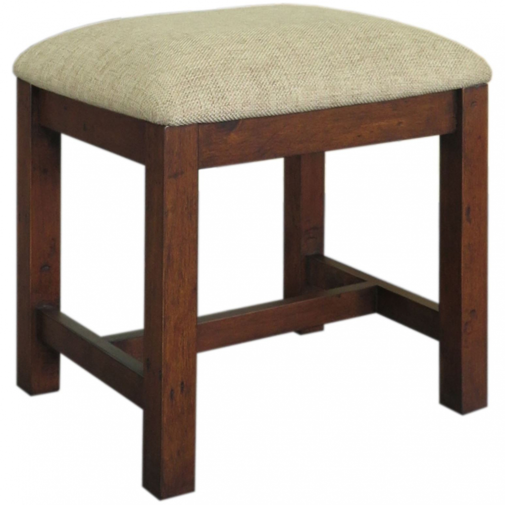 Reclaimed pine cushioned stool