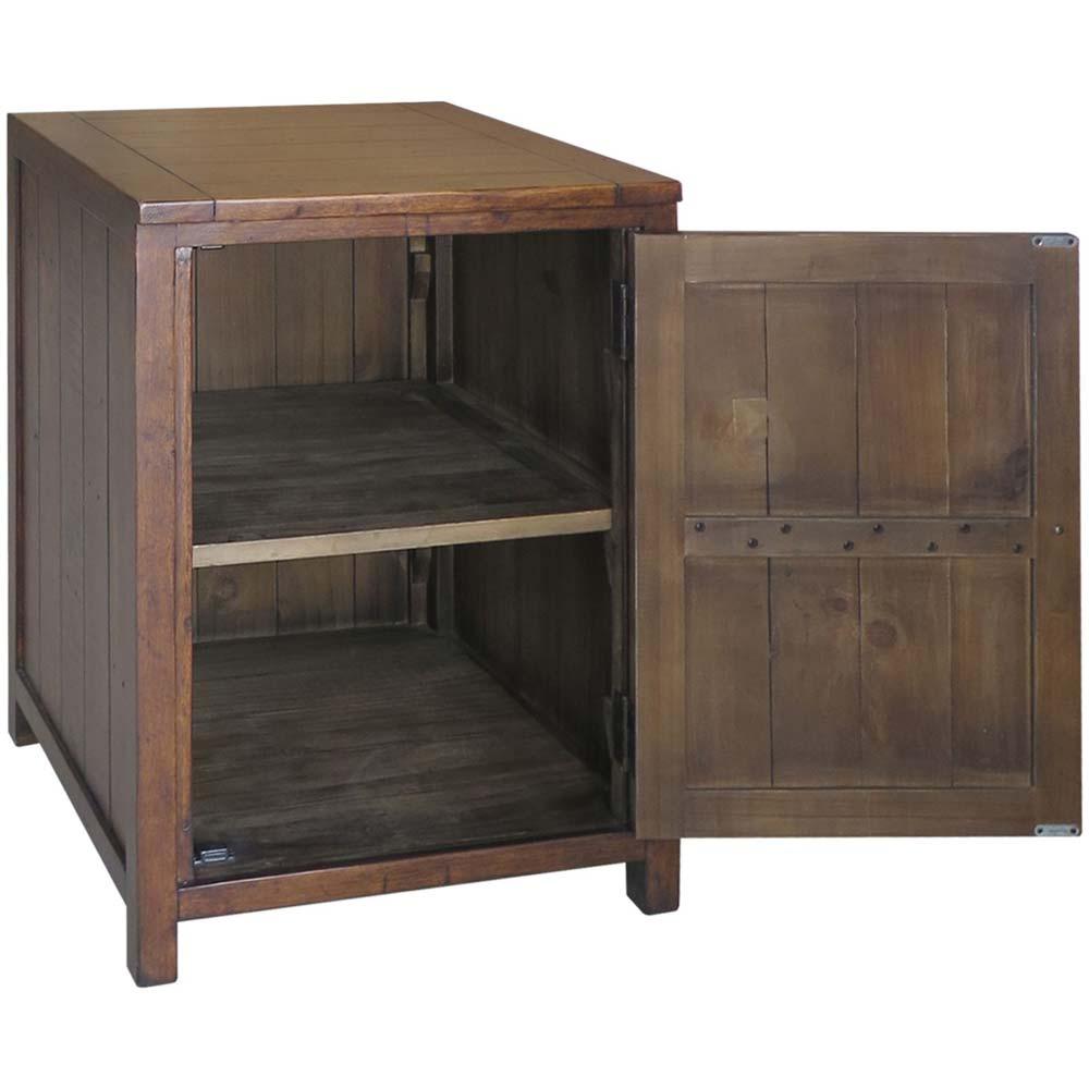 reclaimed pine cupboard with open door
