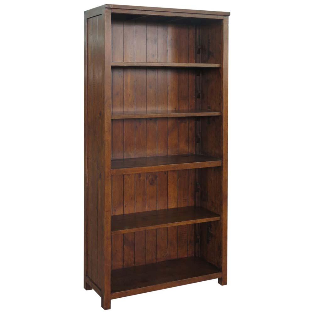 Reclaimed pine 5 shelf bookcase
