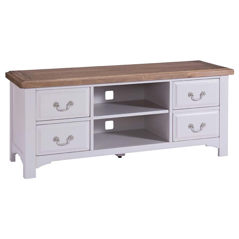 Grey painted oak TV unit