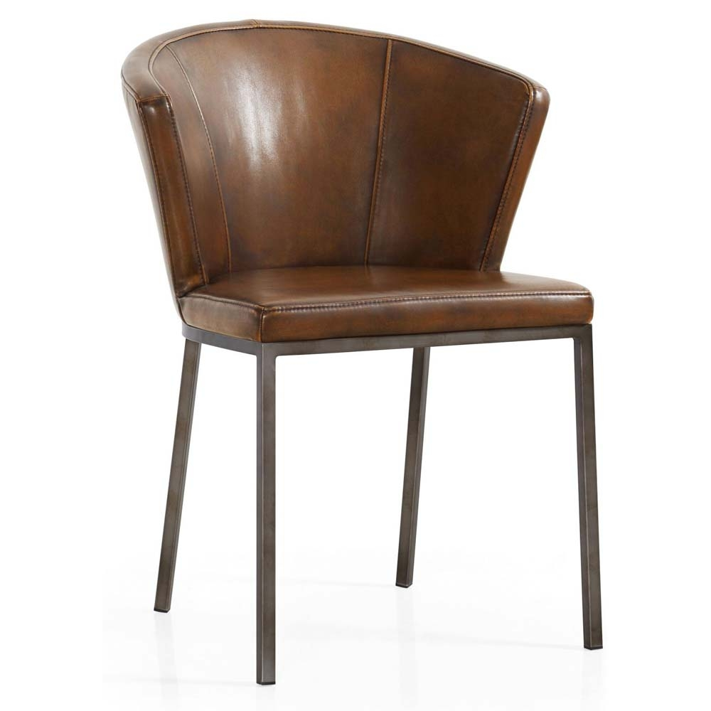 Curved back vintage dining chair