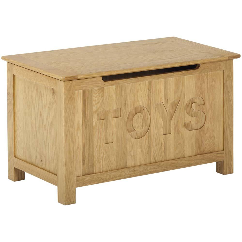 Oak toy box