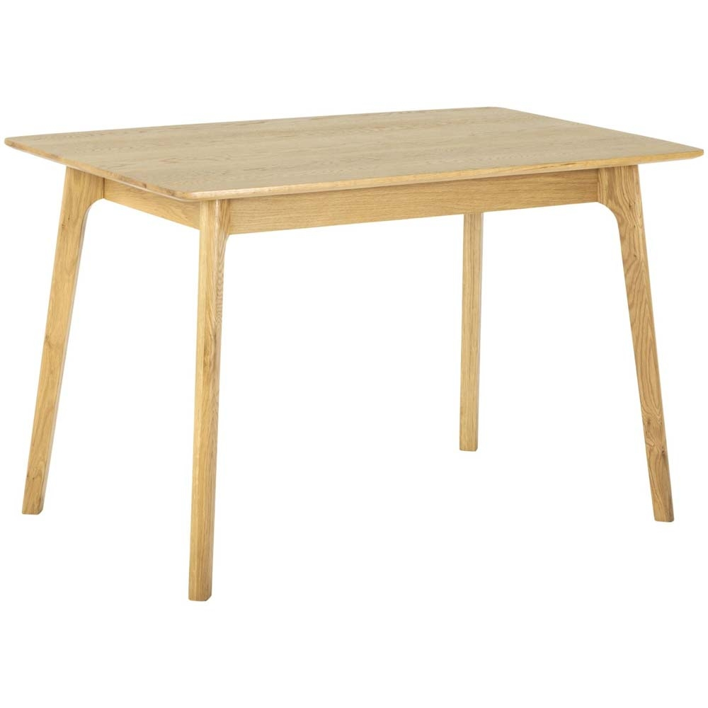 Rectangular, solid oak dining table