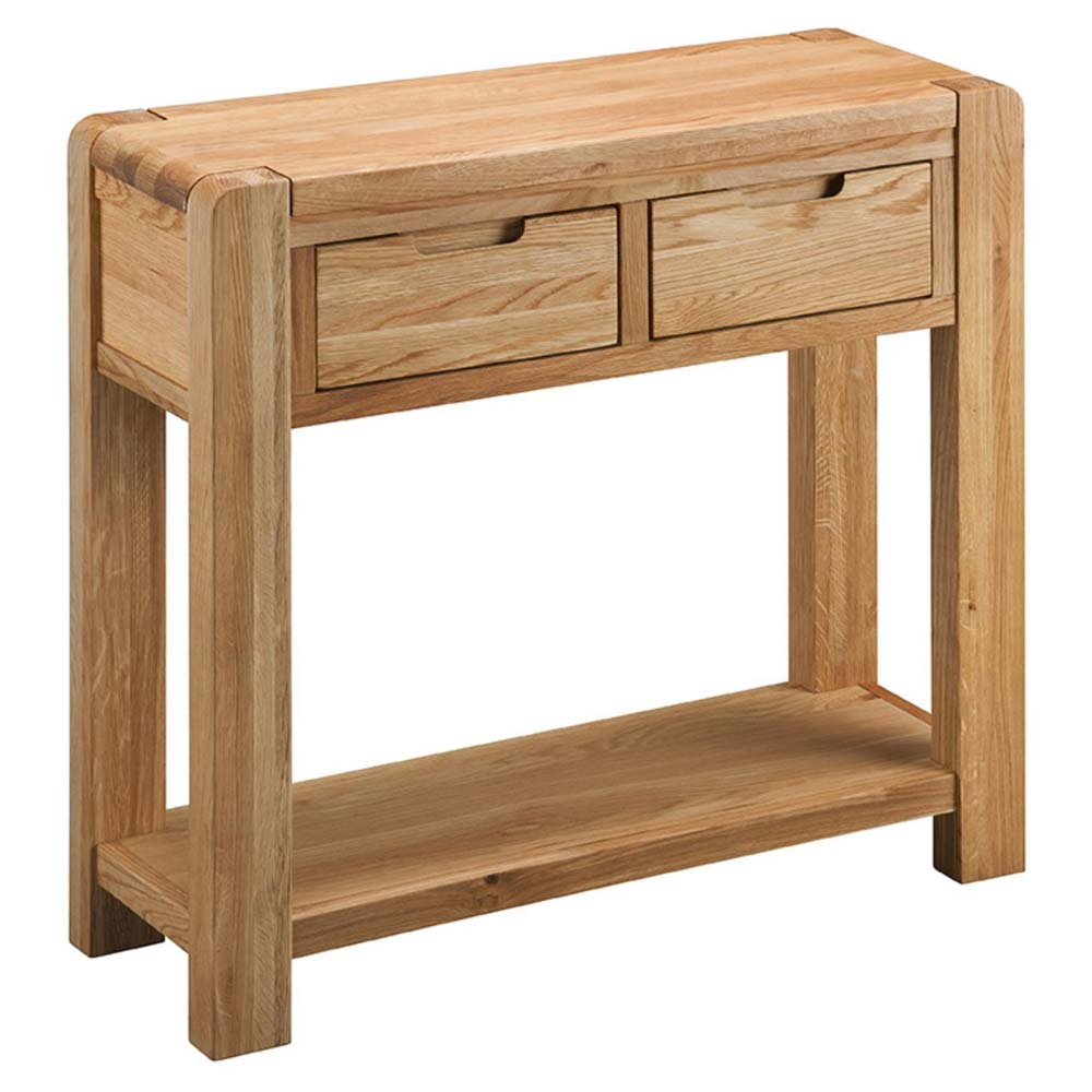 Modern oak hallway table (or console table)