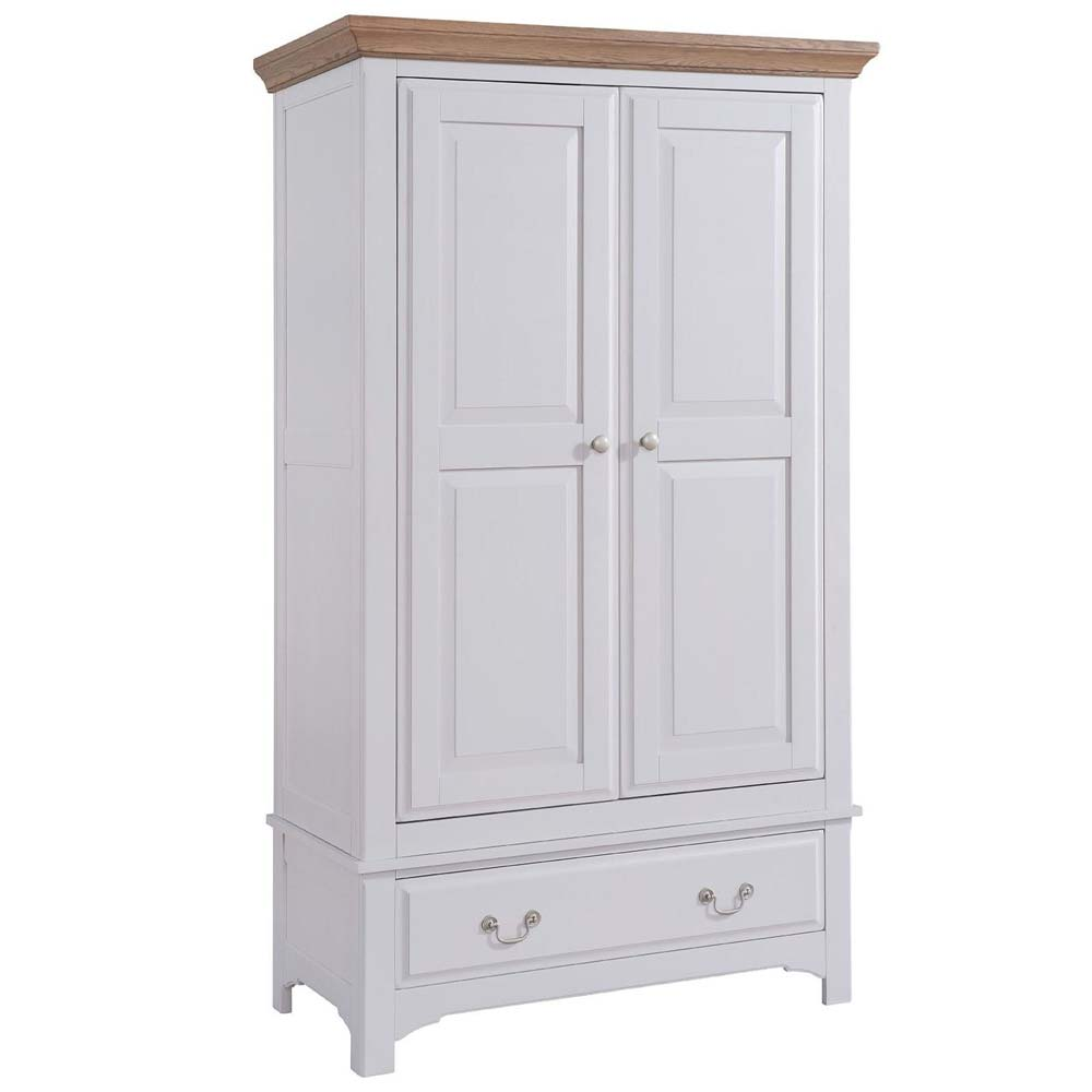 Roxby white oak wardrobe