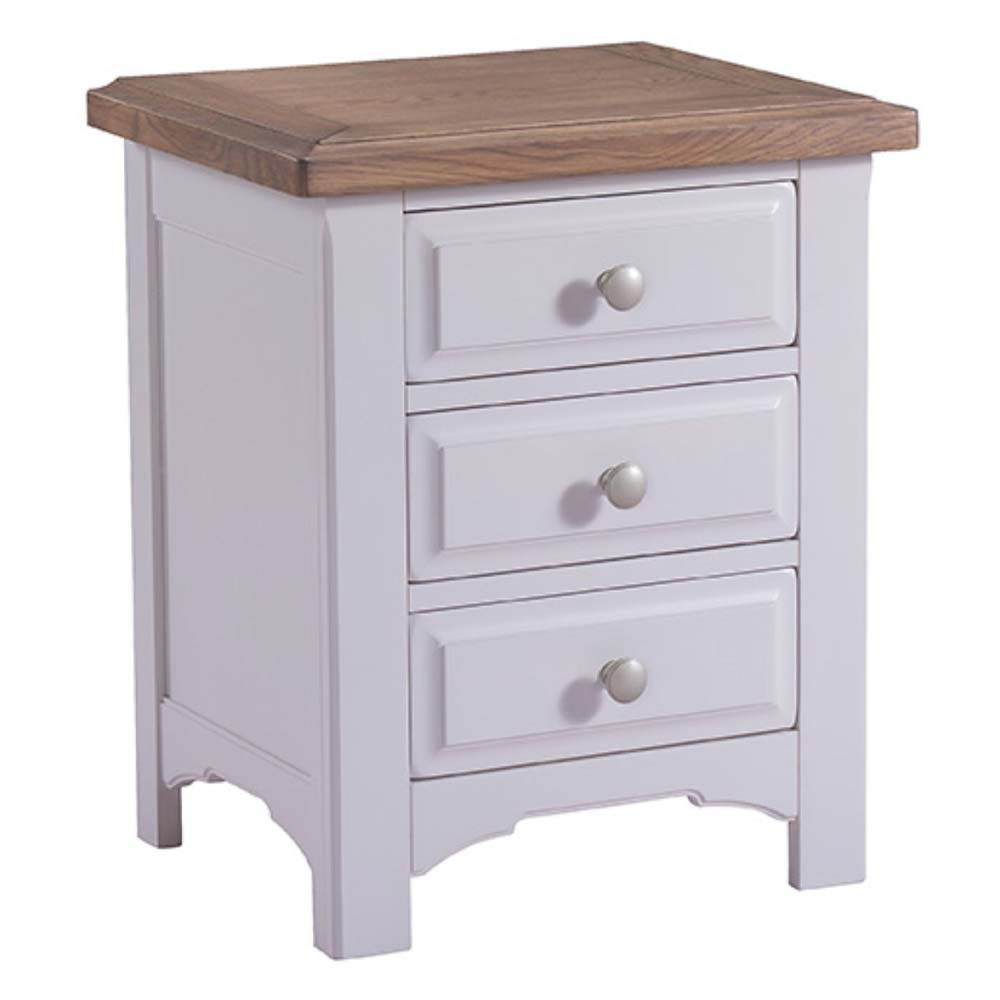 Roxby white oak bedside table