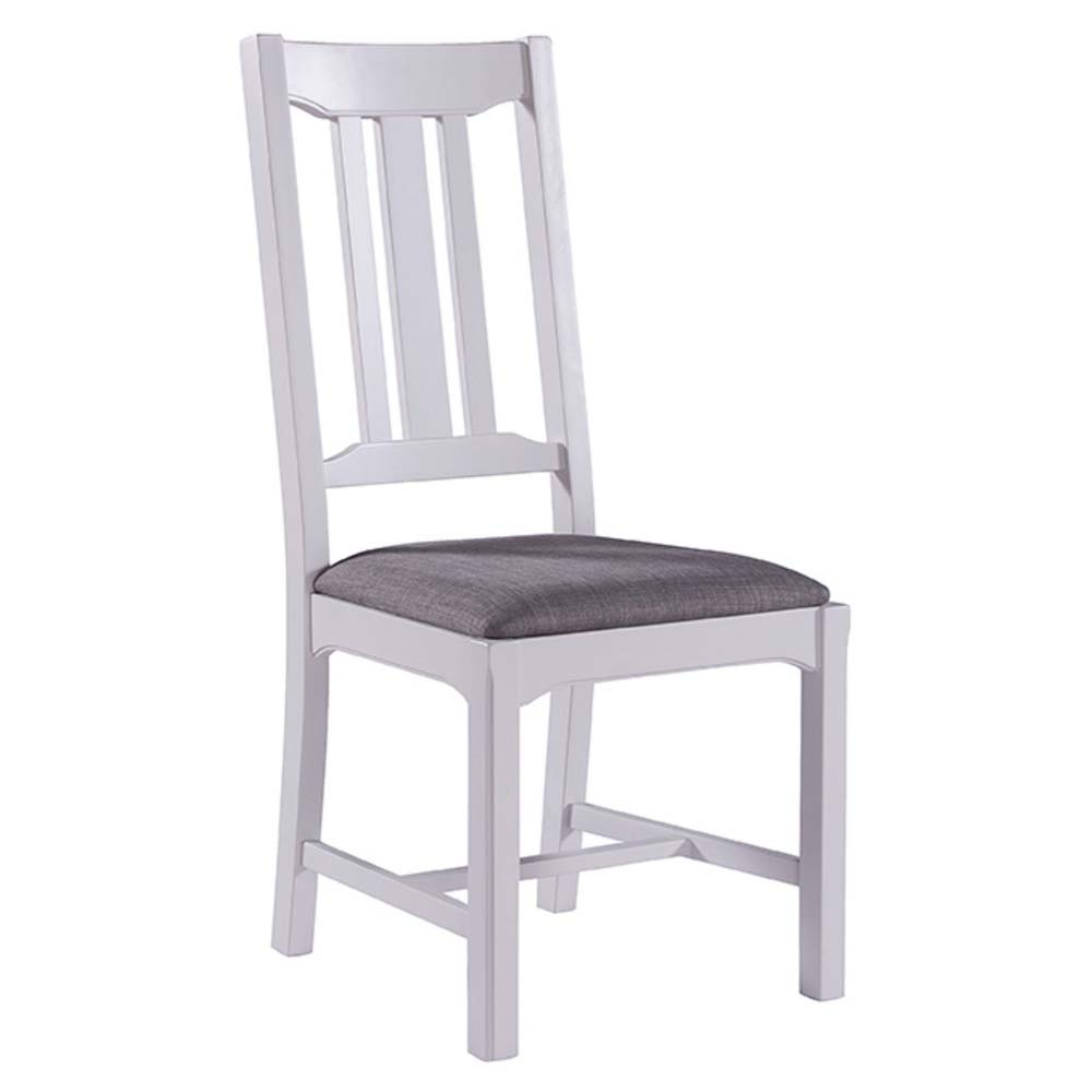 Painted white oak chair