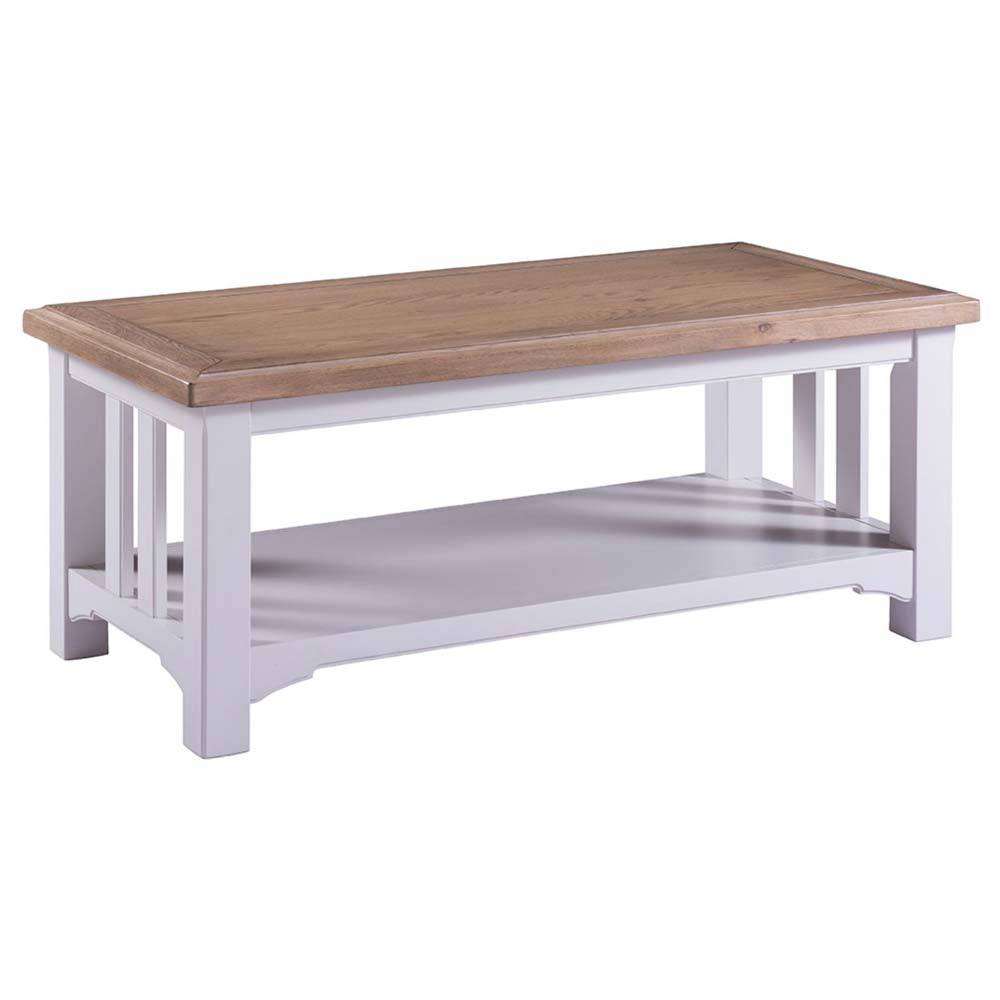 White painted oak coffee table