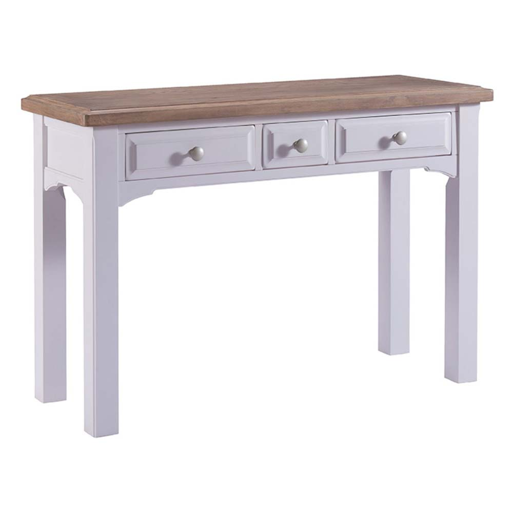 White painted oak dressing table