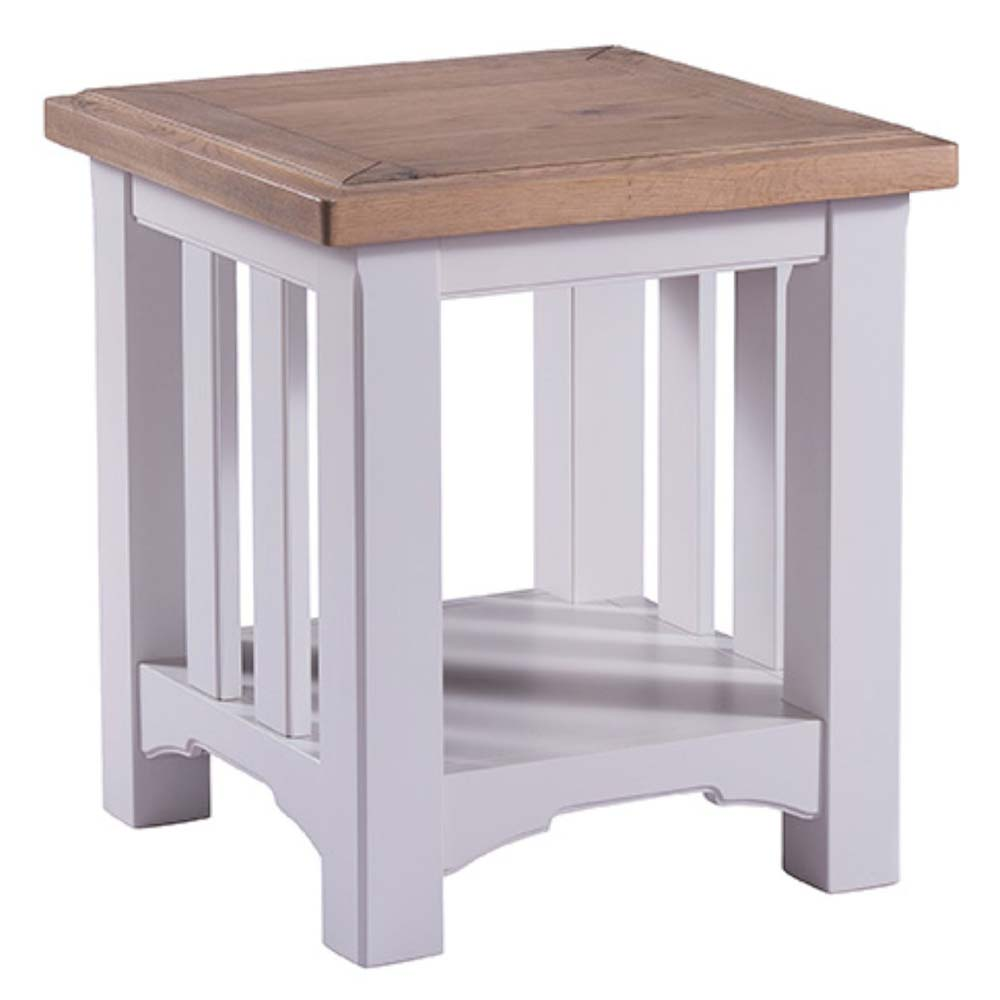 White painted oak lamp table