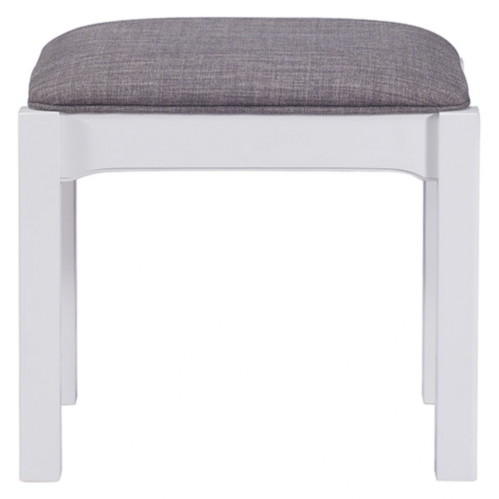 Painted white oak stool