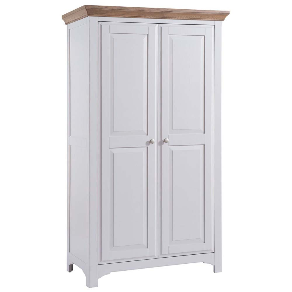 White painted oak wardrobe