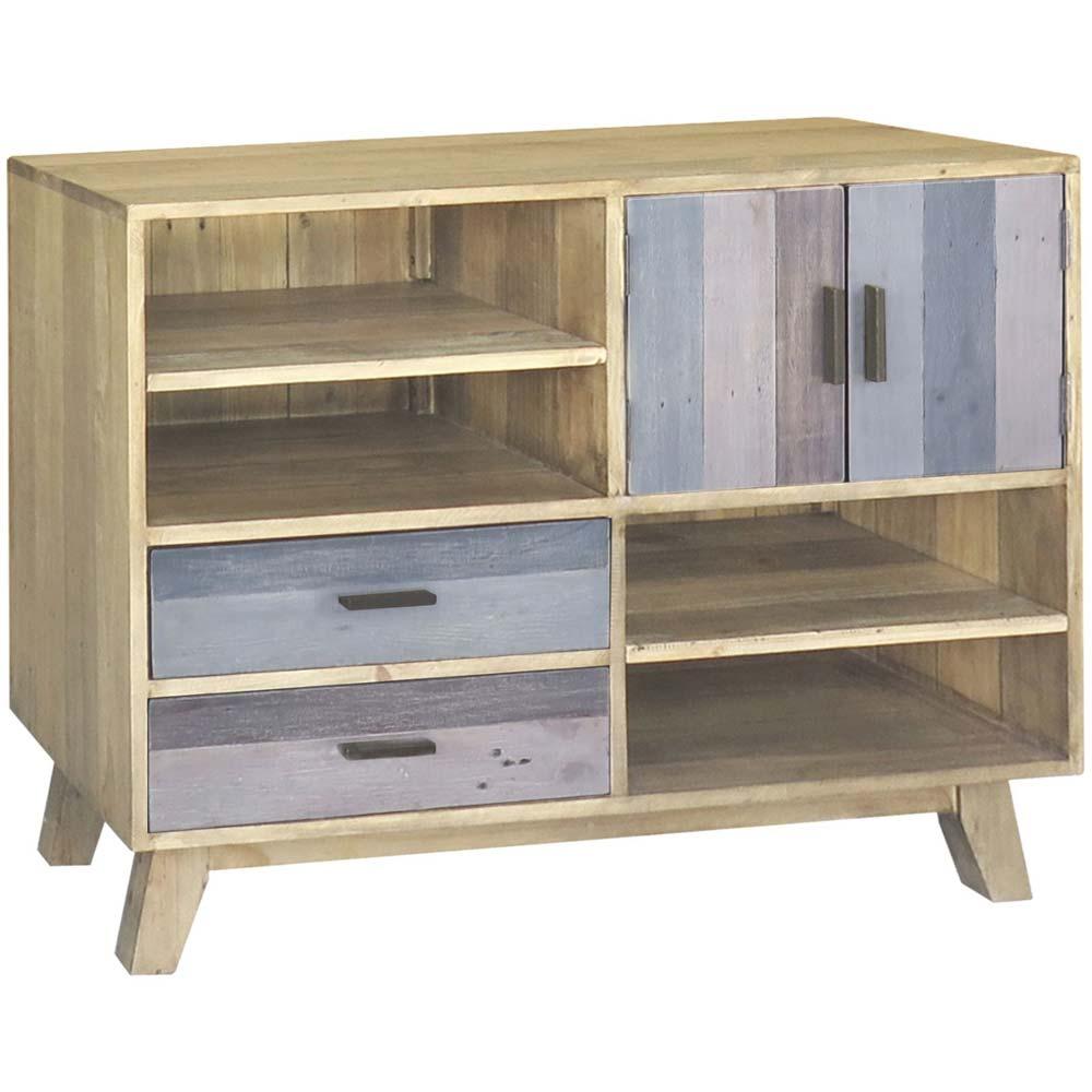 Reclaimed oak storage unit