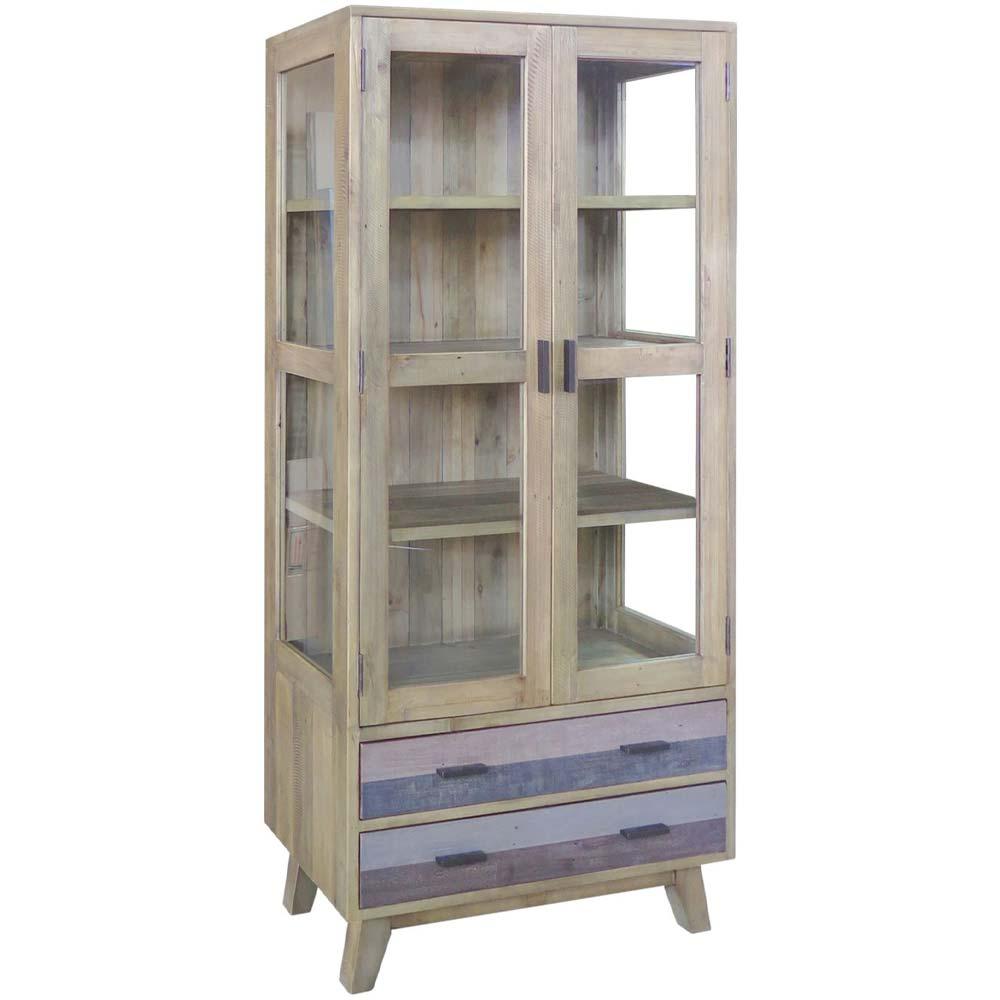 Reclaimed wood display unit