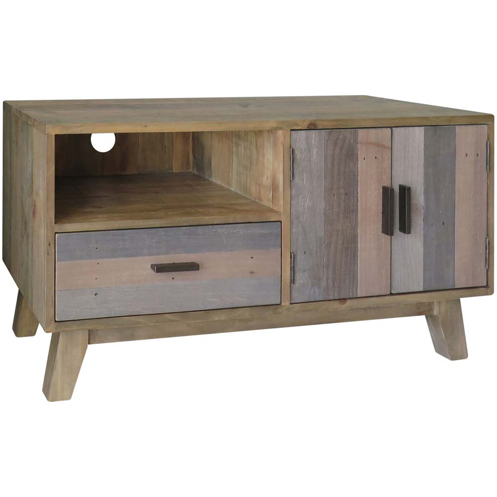 Small reclaimed wood TV unit