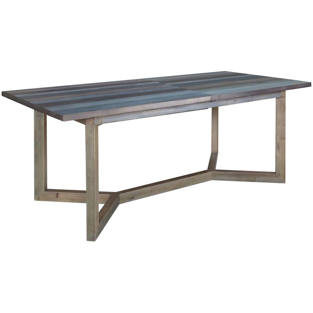 Reclaimed wood small extending table