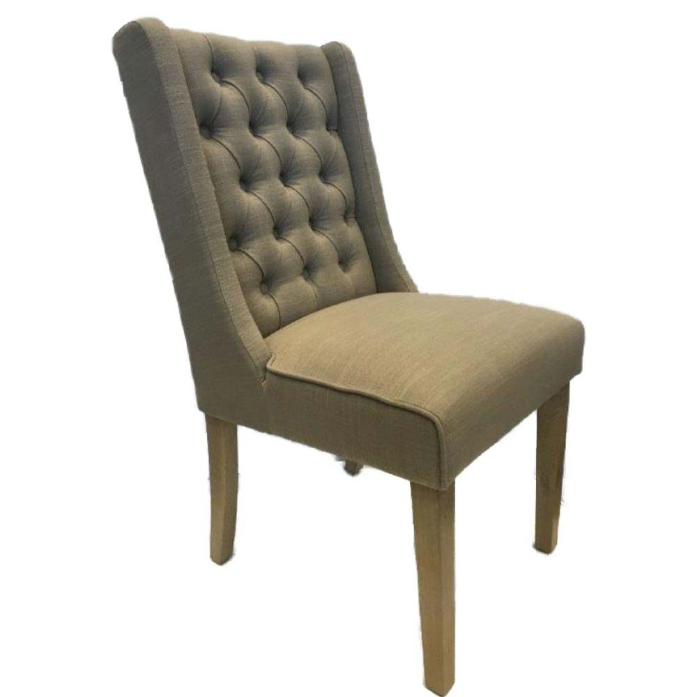 Luxury dining chair in almond