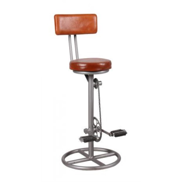 Leather bicycle bar stool