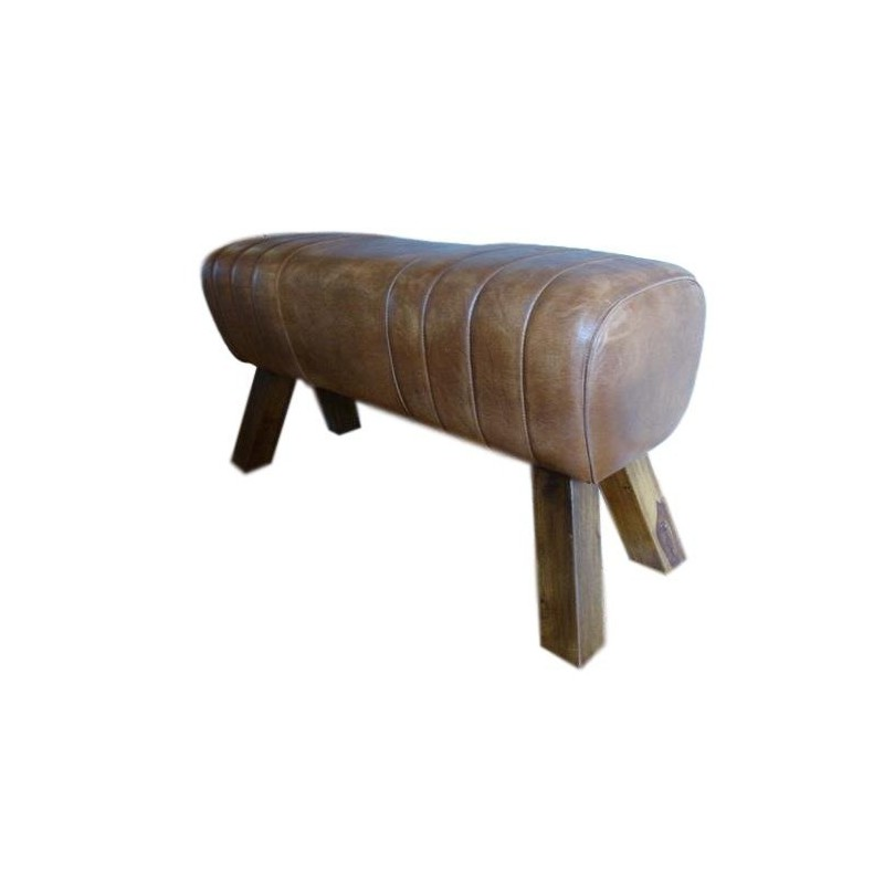 Genuine leather bench pommel horse