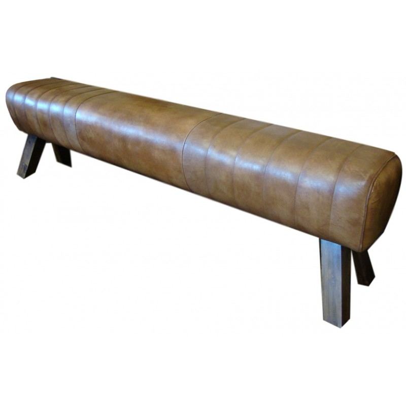 Long leather pommel horse bench