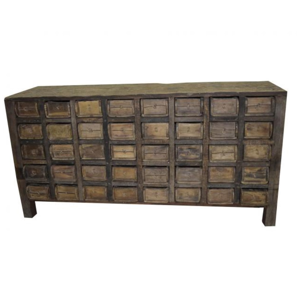 Antique Side Board with 40 Cataloging Drawers