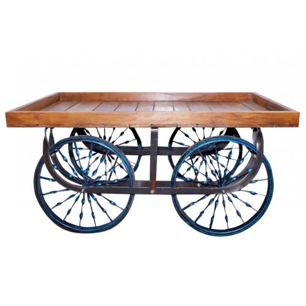 Wooden Display Cart Table 1