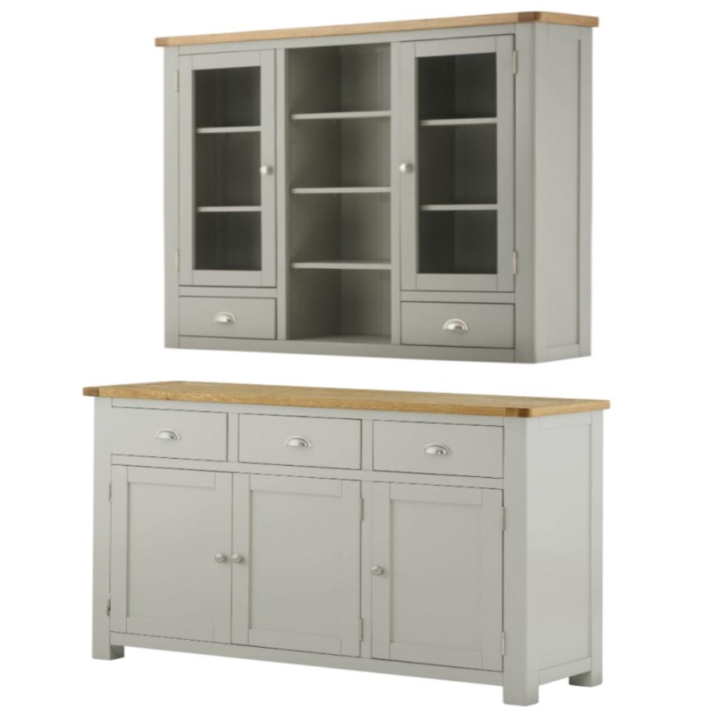 Full dresser set in stone grey