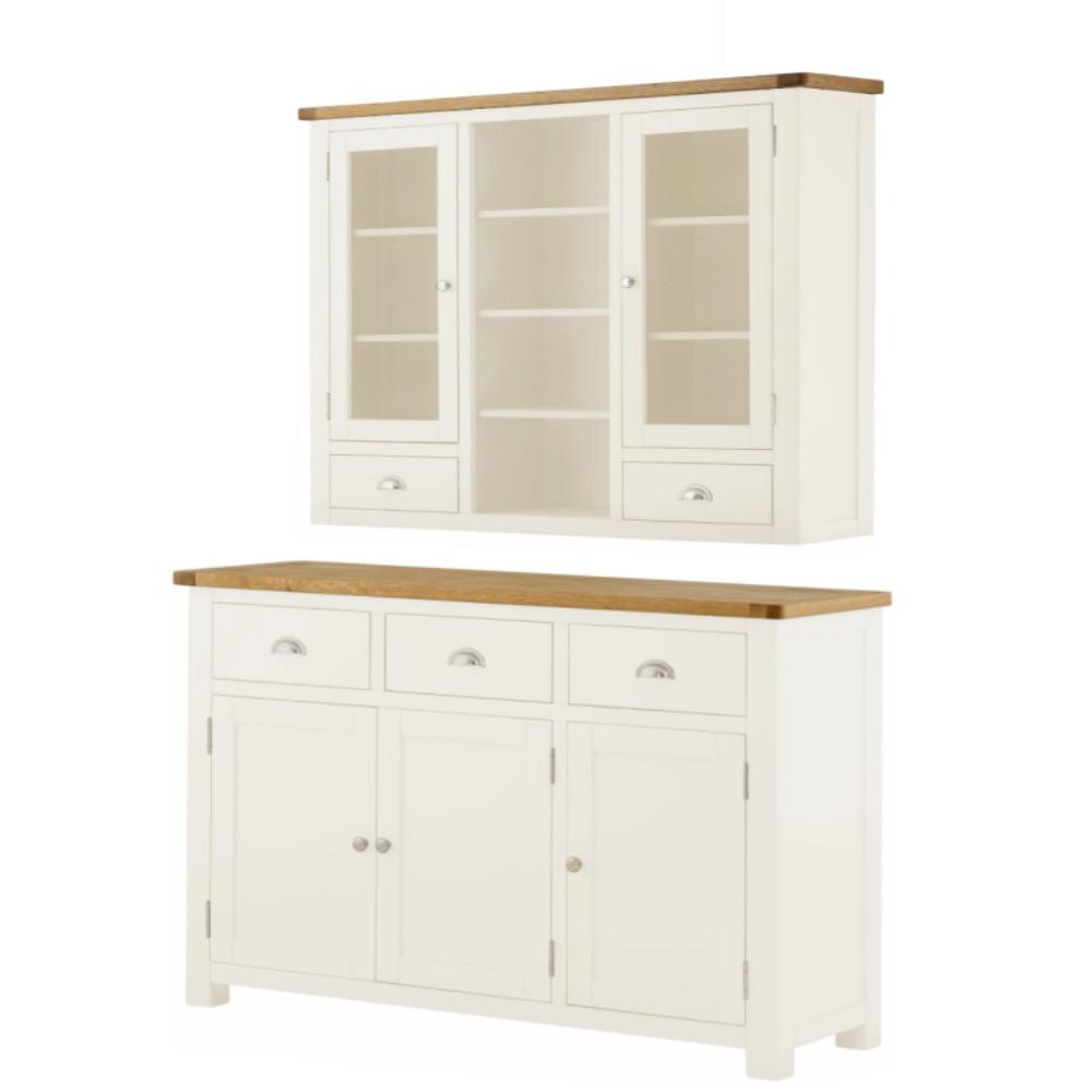 Full dresser set in white